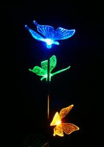 Quality Solar Decorative Garden Stakes, Garden Plastic Butterflies, Solar  Flying Animal For Sale ...