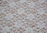 Forma blanca cepillada moda de la flor de la tela del cordón, anchura estirable CY-LQ0042 del 135cm