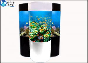 China Cylindrical Acrylic Aquarium Custom Fish Tanks With Super Translucent Material on sale