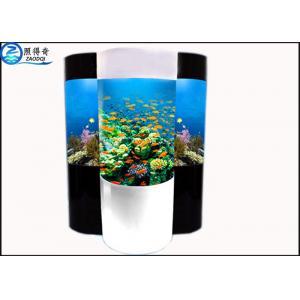 China Cylindrical Acrylic Aquarium Custom Fish Tanks With Super Translucent Material on sale