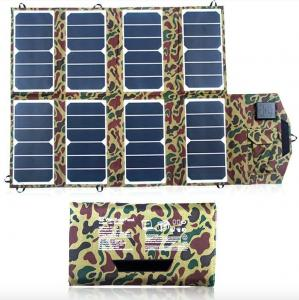 China Fashional USB Solar Panel Portable Charger 52W Auto Stop Protection on sale