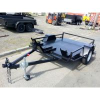 Flatbed 8x6 Motor Bike / Motorcycle Transport Trailer Single Axle 1400kg Load