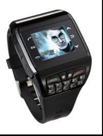 China  MP4 Audio File Format 256k Colours Cell Phone Wrist Watches With Compass on sale