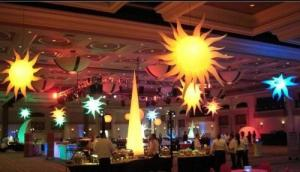 China Led Light Inflatable ,Colourful Inflatable Star Lights For Event Decoration on sale