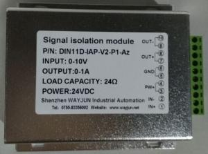China WAYJUN 3000V isolation analog signal or RS485 to PWM Isolation Converter DIN35 signal transmitter on sale
