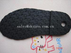 China Wear resistant TPR rubber boot sole / shoe outsole sheet , heart pattern supplier