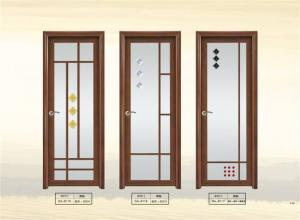 China Double Tempered Aluminum Glass Door on sale