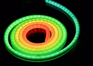 China Super bright Flexible led strip lights outdoor , RGB Led Rope Light Neon Tube on sale