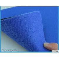 China 3MM - 7MM SBR Rubber Chemical Resistance With Shiny Terry Nylon Fabric on sale