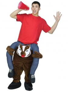 China Adult Ride a Badger Costumes Carry Me Mascot Fancy Dress for Party on sale