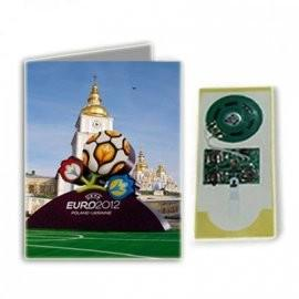 China Christmas glossy varnish 120gms Musical Paper Greetings Cards with 40mm speaker for gift  on sale