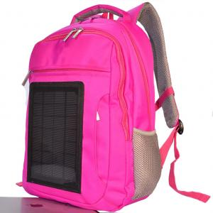Quality Pink Womens Hiking Solar Charging Backpack With Charger Built In  for sale ... 44b054091f