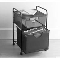 Mesh hanging file and storage cart, mobile office utility cart RCA-L49