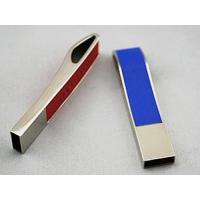 Tiny steel edge leather usb flash drive