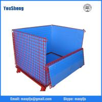 powder coated stackable wire mesh storage container