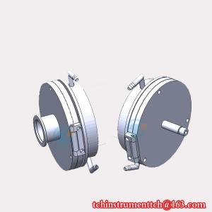 China tube furnace used hinged vacuum sealing flange assembly water cooled for tubes , tube furnace flange on sale
