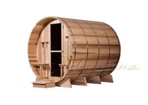 China Unique Deluxe Rustic Hemlock / Red cedar / Pine Sauna Barrel for Outdoor Sauna on sale