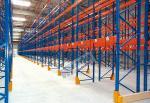 O racking galvanizado industrial alaranjado azul da pálete arquiva cremalheiras do transporte de materiais