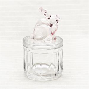China Liddedガラス キャンデーの瓶の装飾的なガラス バニー ウサギ キャンデーの瓶の卸売 on sale