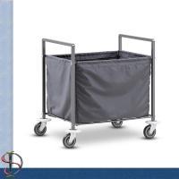 Folding Laundry Cart / Hotel Chrome Laundry Rack / Heavy-duty Laundry Stand with Laundry bag