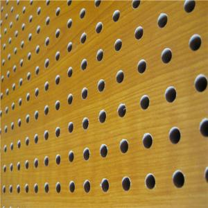 China Mdf Acoustic Board Wooden Timber Perforated Sound Absorbing Panels on sale
