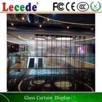 Full Color Transparent Led Video Wall  for Buildings / Office Buildings