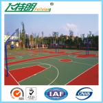 Synthetic Badminton Court Flooring Playground Rubber Mats Anti Skid Coating