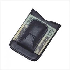 China leather money clip on sale