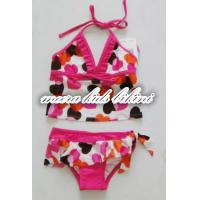 Heat printed loverly girls bikini kids swimwear fashion grils underwear