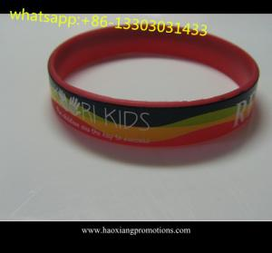 China 1 inch Manufacture high quality cheap custom debossed silicone wristband on sale