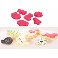 China Red Food Grade Silicone Birthday Cake Molds , Silicone Food Molds For Freezers on sale