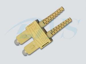 China SC Duplex Multi Mode Optical Fiber Connectors , High Stable Fiber Optic Connector on sale