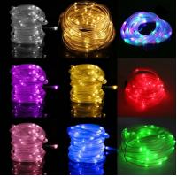 China 12M 100LEDs Solar Rope Tube Led String Strip Fairy Light Outdoor Garden Party Decor Waterproof on sale