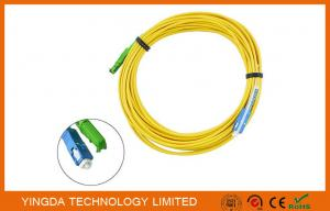 China E2000 APC to SC UPC Fiber Optic Patch Cord  Singlemode Simplex 1.8mm LSZH Riser Cable on sale