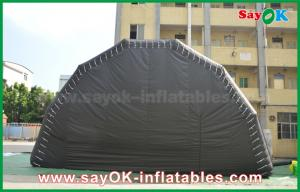 China Black Customized Inflatable Air Tent Stage Show Large Event Tent With Led Light on sale