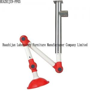 China Wall Mounted Laboratory Fittings Fume Extractor Exhaust Arms 304 SS Center Bolt on sale