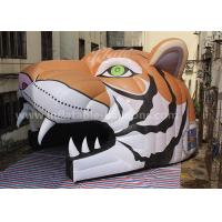 China Oxford Cloth Inflatable Party Tent Inflatable Tiger Head Tunnel For Sports Games on sale