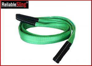 Quality Green Ply Polyester Webbing Sling For Lifting Loads  , Eye And Eye Sling for sale
