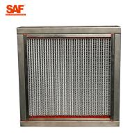 Aluminum Frame High Temperature Hepa Filters With 22 Pleats Per 20 Centimeter