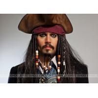 China Jack Sparrow wax figure / Realistic Celebrity Wax Figures Pirates of the Caribbean / movie waxwork on sale
