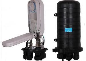 China 96 Core Fiber Optical Splice Closure Mechanical Sealing Structure Black For Ribbon Fibers on sale