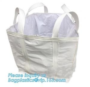 China PP woven flexible big bag with baffle and brace inside for packing 2000kg iron ore with high UV treated, bagplastics, on sale