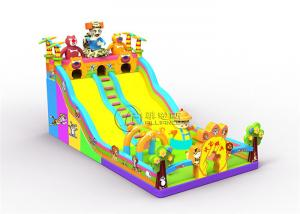 China Hunter Bouncer Inflatable Jumping Bouncer For Kids , Large Bouncy Castle With Slide on sale