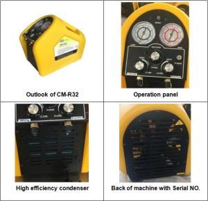 China CM-R32 portable refrigerant recovery machine R32 recovery unit Brushless DC motor auto ac recovery machine on sale