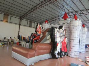 China 0.55mm PVC Tarpaulin Knight Themed Inflatable Castle Bouncer 12.9 X 8.3 X 3.2m on sale