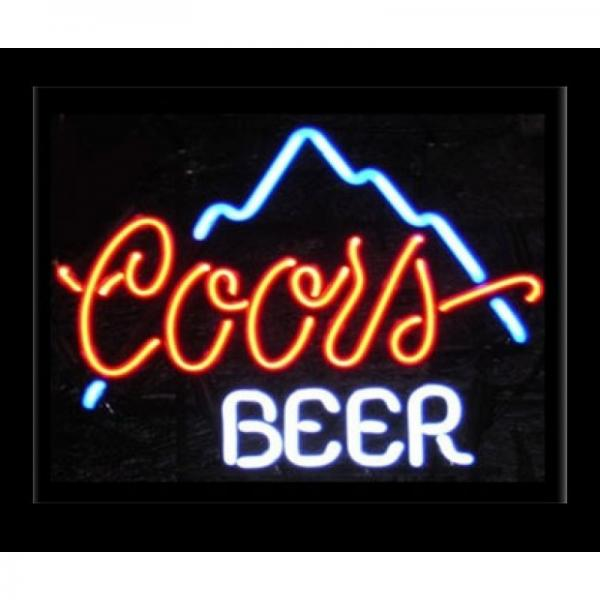 Cold Beer / Martini Cocktail Business Neon Signs With Black Table Top Base  Images