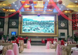 China Customized Size Indoor HD P4 LED Advertising Display Screen Full Color Front Service LED Video Wall OEM / ODM on sale