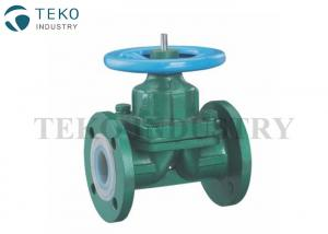 China Plastic PTFE Lined Diaphragm Valves Full Bore Through Type For High Corrosive Liquid on sale