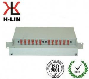 China 1U Metal Ftth Telecommunication Fiber Optic Distribution Box Frame Easy Operation on sale