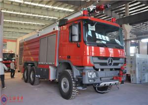 China 6x6 Drive Airport Fire Truck Electric Power Window Mercedes - Benz Actros Long Cab on sale